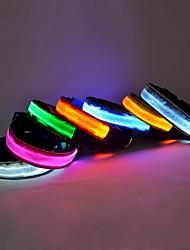 cheap -Dog Collar Light Up Collar LED Lights Nylon Rainbow Yellow