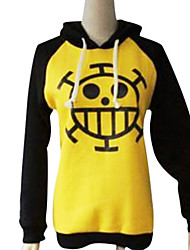 cheap -Inspired by One Piece Trafalgar Law Anime Cosplay Costumes Japanese Cosplay Hoodies Print Long Sleeve Coat For Men's Women's