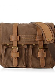 cheap -Unisex Canvas Satchel Canvas Bag Black / Brown / Khaki