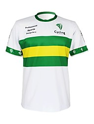 cheap -Malciklo Men's Women's Short Sleeve Cycling Jersey Polyester White / Green Australia Champion National Flag Bike Jersey Top Mountain Bike MTB Road Bike Cycling Breathable Quick Dry Ultraviolet
