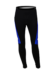 cheap -Malciklo Men's Cycling Tights Black / Blue Finland Champion National Flag Bike Tights Bottoms Mountain Bike MTB Road Bike Cycling Thermal / Warm Fleece Lining Breathable Sports Winter Polyester Fleece