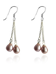 cheap -Women's Drop Earrings Ladies Fashion Pearl Silver Plated Earrings Jewelry White / Purple For Party Daily Casual