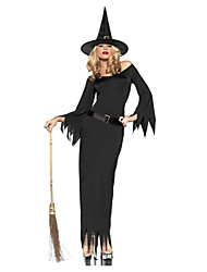 cheap -Witch Cosplay Costume Women's Halloween Carnival Festival / Holiday Polyester Women's Carnival Costumes / Hat