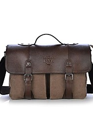 cheap -Men's Canvas / PU Satchel Canvas Bag Coffee / Brown / Green
