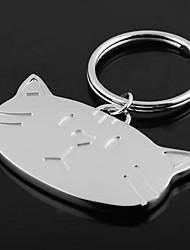Недорогие -Персонализированные гравированные подарков Cat глава Shaped брелок