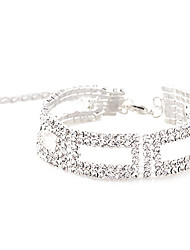 cheap -Women's Crystal Chain Bracelet Tennis Bracelet Tennis Chain Ladies Unique Design Fashion Crystal Bracelet Jewelry For Wedding Party Daily Masquerade Engagement Party Prom / Silver Plated / Rhinestone