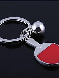Недорогие -Персонализированные гравированные подарков Настольный теннис ракетка Shaped брелок