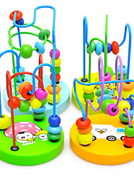 cheap -Children Baby Educational Wooden Mini Around Beads Game Toy