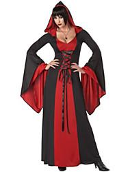 Недорогие -Кровавый вампир Делюкс Красный полиэстер женщин Halloween Party Костюм