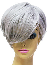 cheap -Synthetic Wig Straight Straight Wig Grey Synthetic Hair Women's Gray