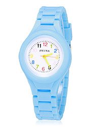cheap -Boys' Girls' Wrist Watch Quartz Casual Analog Yellow Red Blue / Silicone