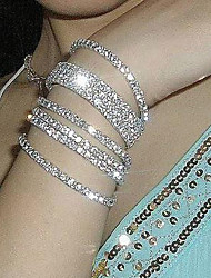 cheap -Men's Crystal Tennis Bracelet Cheap Ladies Unique Design Fashion Crystal Bracelet Jewelry Silver For Wedding Party Daily Casual Masquerade Engagement Party / Silver Plated / Imitation Diamond