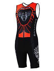 cheap -Kooplus Men's Women's Sleeveless Triathlon Tri Suit Animal Cartoon Bike Coverall Clothing Suit Triathlon Breathable Quick Dry Sports Polyester Clothing Apparel
