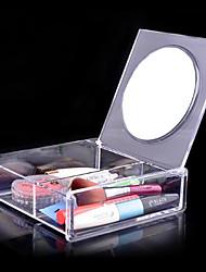 Недорогие -Инструменты для макияжа Хранение косметики Косметические зеркала Составить 1 pcs Акрил Квадрат Повседневные косметический Товары для ухода за животными