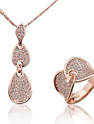 cheap -Pendant Party Work Casual Vintage Rose Gold Gemstone & Crystal Alloy Screen Color Necklace Jewelry For