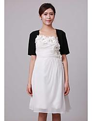 cheap -Short Sleeve Shrugs Chiffon Wedding / Party Evening Wedding  Wraps With