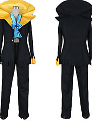 cheap -Inspired by One Piece Brook Anime Cosplay Costumes Japanese Cosplay Suits Color Block Coat / Pants / Tie For Men's