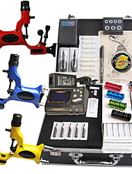 cheap -Tattoo Kit 14 color Ink Power Supply 3 Machine Guns