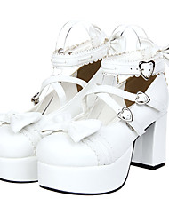 cheap -Women's Lolita Shoes Sweet Lolita Platform Shoes Bowknot 8 cm PU Leather / Polyurethane Leather Halloween Costumes / Princess