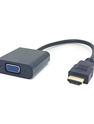 cheap -Black HDMI Source to VGA Output & 3.5 mm Stereo Audio Cable Converter Adapter for HDTV PC 1080P