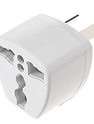 cheap -Universal AU Port Travel Power Adapter Plug (250V, White)