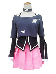 cheap -Inspired by Vocaloid IA Video Game Cosplay Costumes Cosplay Suits / Dresses Pattern Long Sleeve Coat Skirt Collar Costumes
