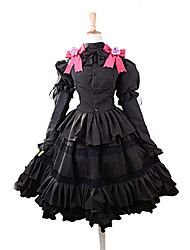 cheap -Inspired by Date A Live Kurumi Tokisaki Anime Cosplay Costumes Japanese Cosplay Suits Dresses Bowknot Top Skirt Headband For Women's