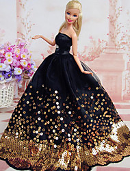 cheap -Doll Dress Party / Evening For Barbiedoll Polyester Dress For Girl's Doll Toy / Kids