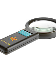 cheap -8X 75mm Multifunctional 10-LED Ultra Bright Light Handheld Army Style Magnifier