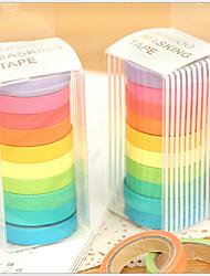 Недорогие -красочные радужные рекламные ленты (набор из 10) для школы / офиса
