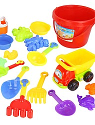 cheap -17 Pieces Colorful Various Types Beach Toy Set