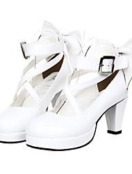 cheap -Women's Lolita Shoes Sweet Lolita Classic Lolita High Heel Shoes Bowknot 7 cm PU Leather / Polyurethane Leather Halloween Costumes / Princess