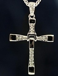 cheap -Men's Pendant Necklace Cross Ladies Movie Jewelry Christ Alloy Silver Necklace Jewelry 1pc For Christmas Gifts Daily Casual