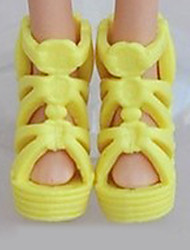 cheap -Doll Shoes For Barbiedoll Solid Color Synthetic Yarn Polyester PVC(PolyVinyl Chloride) Shoes For Girl's Doll Toy