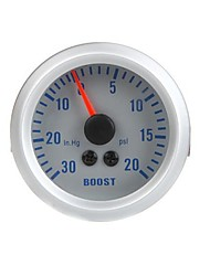 cheap -Turbo Boost Vacuum Gauge Meter for Auto Car 2 52mm 0~30in.Hg 0~20PSI Orange Light Without instrument stand