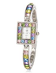 cheap -Women's Luxury Watches Bracelet Watch Diamond Watch Japanese Quartz Multi-Colored Imitation Diamond Analog Ladies Sparkle Fashion Elegant Bling Bling