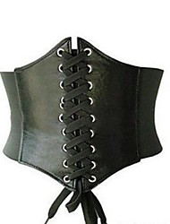 cheap -Women's Buckle Underbust Corset / Party - Solid Colored, Lace up / Basic White Black Fuchsia One-Size