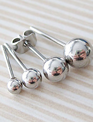 cheap -1 pc Men's Women's Stud Earrings Ball Ball Stainless Steel Earrings Jewelry  / Silver For Wedding Casual Masquerade Engagement Party Prom