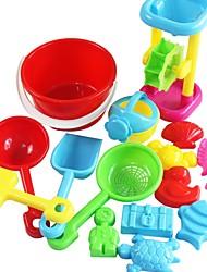 Недорогие -Набор игрушек для пляжного песка Песчаные формы Наборы инструментов Sand Shovel 15 pcs пластик Творчество Назначение Детские Взрослые Мальчики Девочки