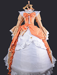 cheap -Inspired by Vocaloid Kagamine Rin Video Game Cosplay Costumes Cosplay Suits / Dresses Patchwork Dress Necklace Headband Costumes