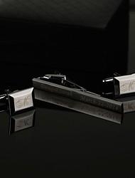 abordables -alliage de zinc Boutons de manchettes & Clips de cravate Marié Groom Mariage Anniversaire Entreprise