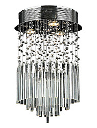 cheap -QINGMING® Flush Mount Ambient Light Electroplated Metal Crystal 110-120V / 220-240V Bulb Not Included / GU10