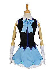 cheap -Inspired by Beyond the Boundary Cosplay Anime Cosplay Costumes Japanese Cosplay Suits Dresses Pattern Sleeveless Cravat Vest Skirt For Women's