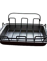 Недорогие -Решетка из нержавеющей стали для жарки, 42 см х 36 см х 12 см