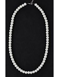 abordables -Collier de Perle Collier de perles Femme Perle Perle Imitation de perle dames Ivoire Colliers Tendance Bijoux pour Mariage Soirée Quotidien Décontracté