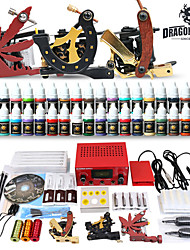 cheap -Professional Tattoo Kit 3 Top Machines 40 Color Inks Power