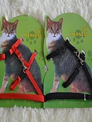 cheap -Cat Leash Adjustable / Retractable Black Red