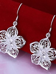cheap -Women's Drop Earrings filigree Ladies Silver Plated Earrings Jewelry For Wedding Party Daily Casual