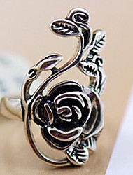 cheap -Women's Statement Ring Alloy Ladies Personalized Vintage Party Daily Jewelry Hollow Out Artisan Roses Flower
