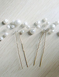 cheap -Crystal / Imitation Pearl / Fabric Tiaras / Hair Pin with 1 Wedding / Special Occasion / Party / Evening Headpiece